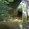 Flooded River Chew beneath Brunel's Bridge