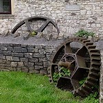 Cog wheels at the former mill, Compton Dando